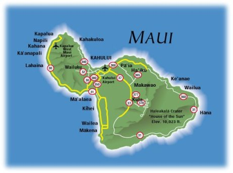 Hawaii, Maui Map